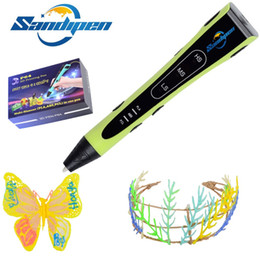 multi filamento Sconti Sandipen Original Multi Filament 3D Drawing Pen Green Painting 6th Generation Toy Gift creativo per bambini Design con il regalo P6404