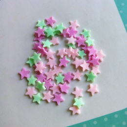 Wholesale dancing figurines - ecoration Crafts Figurines Miniatures Tanduzi 100g Star Clay Sprinkle Polymer Clay Star Flatback Cabochon Deco Parts Phone Beauty Decorat...