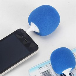 Wholesale Docking Speaker For Iphone - Portable 5.5CM Novelty Wired Mini Ball Speaker Balloon Mobile Audio Docks Cute Music Ball Player For IPhone Samsung