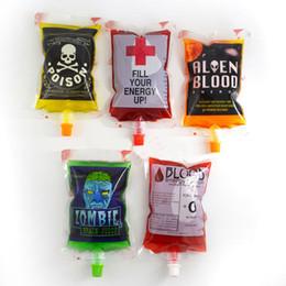 Wholesale Alien Cosplay - Hot 250ml Blood Energy Drink Beverage Bag Vampires Aliens Blood Bag Cosplay Party Events Decoration Supplies Diy Water Kettle