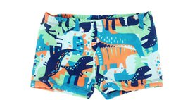 Wholesale Swimming Dogs - New Boys Swimwear Cartoon Printing Cute Fit 4-10Y Swimming Trunks Kid Children Astronaut Machine dog Dinosaur Pattern sw0712