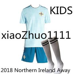 Wholesale kids boys wear - 2018 Northern Ireland kids sock Jerseys 8 DAVIC 10 K.LAFFERTY 5 J.EVANS 17 McNAIR Custom Away Green Blue Rugby Wear