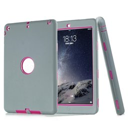 plastic hard robot case defender Coupons - 3 in 1 Defender Robot Heavy Duty Shockproof Soft Silicone Rubber Hard PC Cover Case For New iPad by free shipping PCC072