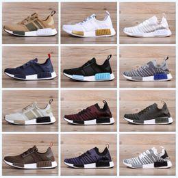 Wholesale size 14 flat shoes women - 2018 Runner R1 PK 14 New Colors Low Running Shoes Primeknit Men Women boost Running Shoes Sports Shoes Sneakers Size 36-45