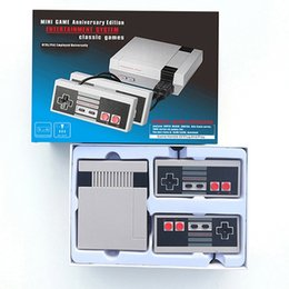 Wholesale Play Consoles - New Mini TV Video Game Model For NES 620, Play Console with Retail Boxes, Hot Sale PAL&NTSC Dual Gamepad, Fast Shipping