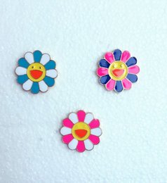 Wholesale Pin Sun - 2016 Japanese color Murakami Takashi Sun Flower Enamel Brooch pins wholesale