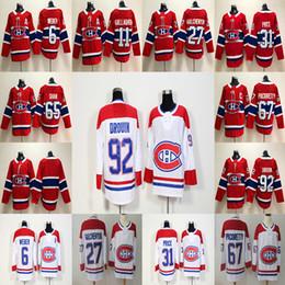 Camisetas canadienses baratos online-2017-2018 Temporada 14 Tomas Plekanec 27 Alex Galchenyuk 31 Carey Precio 67 Max Pacioretty Montreal Canadiens Hockey Jerseys Barato