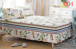 Wholesale Full Bedskirt - Home Cotton Bed Skirt Birds Mattress Cover Petticoat Twin Full Queen King Bedroom Single Double Bed Skirts Bedspread BEDSKIRT