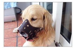 vente en gros en cuir souple pu cuir réglable moustiques pour chien anti-aboiement morsure formation de toilettage couverture de la bouche ? partir de fabricateur