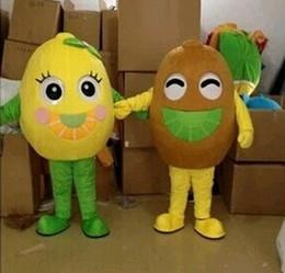 Hochwertige obstkostüme online-Machen Sie hochwertige EVA Material Kiwi Fruit Maskottchen Kostüm Obst Cartoon Bekleidung Werbung WS593