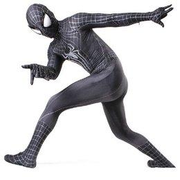Wholesale Cotton Civil War - black spider man costume adult spandex 3d kids adulto halloween mask custom amazing zentai spiderman suit cosplay civil war