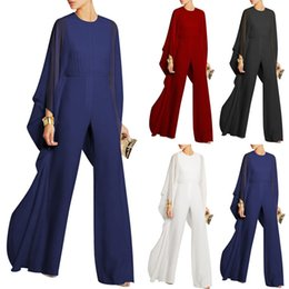 219727166c3 New Women Jumpsuits 2018 Autumn Summer Sexy Jumpsuit Casual Fashion Ruffles Plus  Size 2XL Long Straight Jumpsuits Red