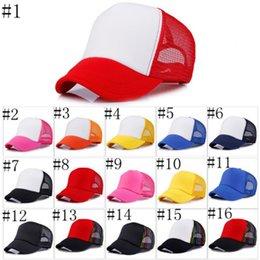 Wholesale Making Custom Hats - Trucker Cap Adult Mesh Caps Blank Trucker Hats Snapback Hats Accept Custom Made Logo DIY YYA1218