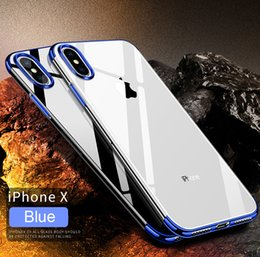 Wholesale Iphone Back Plates - Plating Case For iPhone X Samsung Note8 S8 Plus Slim Electroplating TPU Soft Back Cover Case For iPhone 8 7 7plus Shell