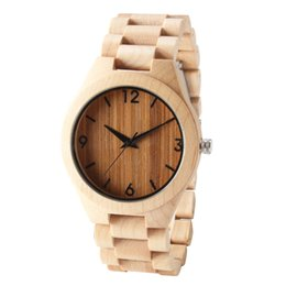 Wholesale maple watch - 2018 TJW hot new latest wooden shell wooden wristband watch maple made light luxury sports style watch