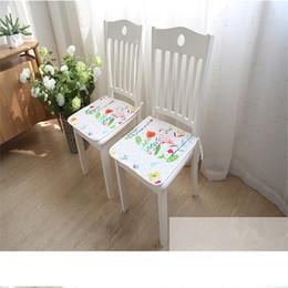 Almofadas de fezes on-line-Cadeira Mat Sofá Anti-skid Tabela almofada Tapete De Assento Do Bebê Anti-slip Mat Estudante Stool cushio Casa Cozinha Cadeira Sit Pad tapete colchão