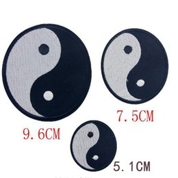 Wholesale free shipping iron patches - Free Shipping brand patches Tai Chi Embroidered iron on patches for clothing Jacket Applique sticker for clothes DIY Accessory