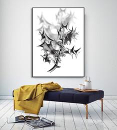 Wholesale Impressionist Drawings - Minimalist Nordic Home Decor Draws Shadowy Tree Interior Art Walls Fashion Murals