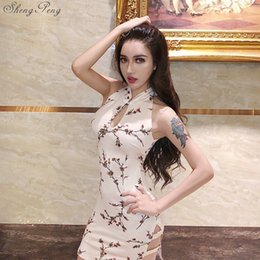 Горячие платья сексуальный китайский онлайн-2018 лето горячие продажи ретро mordern сексуальный китайский tangsuit qipao костюмы короткие cheongsam платья китайское платье V983