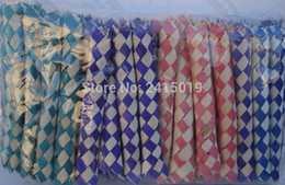 Wholesale Magic Tricks Free Shipping - Free ship 24pc cheap Chinese finger trap magic trick joke toys party favors gifts loot bag fillers give away