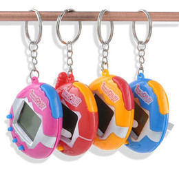 Wholesale Funny Pc Games - 1 PC Color Random Virtual Cyber Digital Pets Electronic Tamagochi Pets Retro Game Funny Toys Handheld Game Machine For Gift