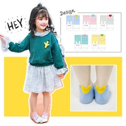 Wholesale rabbit shapes - Creative Girls Cartoon Socks Lovely Rabbit Back Ankle Love Shape Short Sock Baby Girls Foot Warmer Breathable Casual 5Designs Mix 5pairs Set