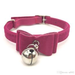 Canada Petit Bell Bow Tie Flocage Colliers de chien Tide Pet Sécurité élastique Chat Collier Neck Chain Facile à transporter 3jw cc supplier easy bows Offre