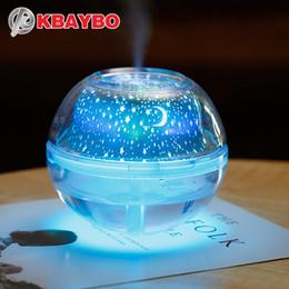projektor lichter für schlafzimmer Rabatt USB Kristall Nachtlampe Projektor 500 ml Luftbefeuchter Desktop Aroma Diffusor Ultraschallnebelhersteller LED Nachtlicht für Zuhause