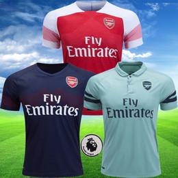 57f6f54b6 Top AAA Arsenal soccer jerseys 2018 2019 AUBAMEYANG OZIL JERSEY 18 19  LACAZETTE TORREIRA football kit Tops SET soccer shirt maillot de foot