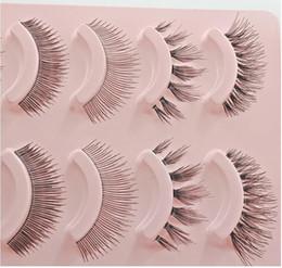 Argentina 5 pares de pestañas de cabello humano puro Wispy Natural larga falsa herramienta de extensión de pestañas lujosas maquillaje de ojos belleza Wispers suave cabello humano Suministro