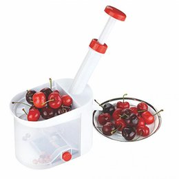 Wholesale fruit pitter - High Quality Novelty Cherry Pitter Remover Machine New Fruit Nuclear Corer Kitchen Tools