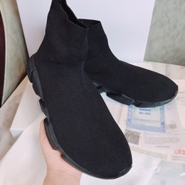 Wholesale Mesh Booties - 2018 new Black Sock Booties Sports Running Shoes,Training Sneakers Shoes,Speed Knit Sock High-Top Training Sneakers,Dropshipping Accepted