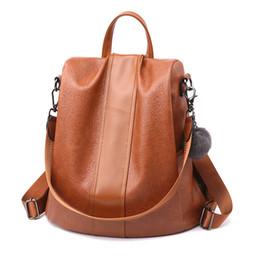2019 рюкзак из коричневого pu кожи BARHEE 2018 противоугонная искусственная кожа женщины рюкзак черный мешок школы для подростков путешествия случайные большой емкости сумки на ремне коричневый дешево рюкзак из коричневого pu кожи