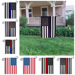 Wholesale United Toys - 35*45CM USA Garden Flag Polyester Flag RED White Blue Flag Polyester Stripes United States Stars Banner Flags Sand Play AAA277