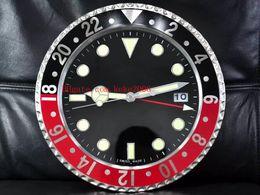 mochila eletrônica Desconto 8 estilo de luxo de alta qualidade relógio relógio de parede 34cm x 5cm 3kg de aço inoxidável de quartzo eletrônico azul relógio luminescente