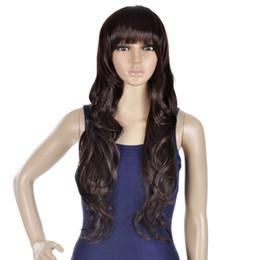 Lindo cabelo comprido cosplay on-line-Linda Peruca Cheia Longa Onda Encaracolado Cabelo Cosplay Perucas Do Partido Do Dia Das Bruxas