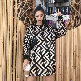 1026e4573ca New Pleuche Letter Full Dress Women Autumn 2018 Long Sleeve Velvet T-shirt  Loose F Diagonal Full Fashion Hoodies