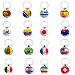 lembranças do fã chaveiros Desconto 2018 Futebol Chaveiro de Futebol Fivela Chave de Metal País Bandeira Fãs de Futebol Presente Da Lembrança C4123