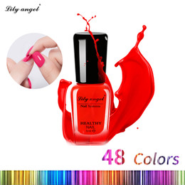 Wholesale Lily Paintings Art - Lily angel 6ml Colorful Waterborne Nail polish Gel Paint Peel off Water Based Nails Art Glue Quick Drying Beauty Tools