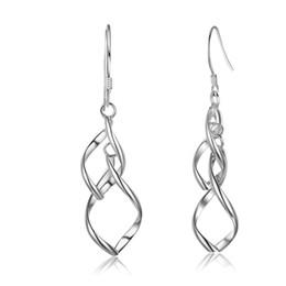 orecchini pendenti in argento sterling 925 con doppia gemma in foglia di banana, ciondolo a forma di ciondolo per ragazze giovani # EA101990 da