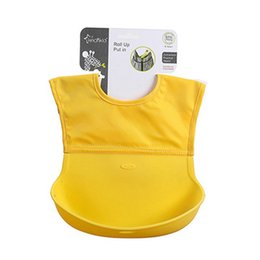 silicone pocket bibs Coupons - Baby Bib Children Eat Pocket Waterproof Silicone Baby Saliva Towel Maternal And Infant Supplies