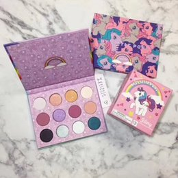 Wholesale Full Free P - Colourpop My little P ony Eyeshadow Palette 12 Colors Cute Fashion Palettes Hot Sale Eyeshadow Yong Girls Cosmetics Free Shipping