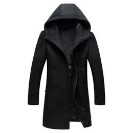 2019 cappotto caldo britannico Giacca invernale uomo moda autunno e inverno 2017 nuova moda cappotto misto lana calda colore solido Slim tasca da uomo sconti cappotto caldo britannico
