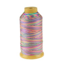 Argentina 500D / 3 alta tenacidad hilo de nylon arco iris de color hilo de cuero DIY accesorios de costura de la perla máquina de coser industrial cheap leather sew machine Suministro