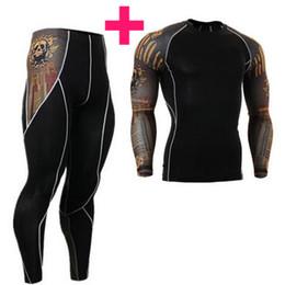 camisa do corpo masculino Desconto Moda Mangas Compridas T-shirt dos homens 3D Imprime Apertado Camisas De Compressão Da Pele para Homens MMA Rashguard Masculino Body Building Top de Fitness