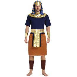 2017 New Egypt Costume Uomini Orange Faraone Costume Cosplay per adulti  Costumi di Carnevale di Halloween Fancy Dress Party Supplies sconti abiti  egitto 1ef683239154