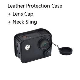 schutzkamerataschen Rabatt Action Kamera Tasche Schutzhülle aus Leder mit Sling Lanyard mit Objektivdeckel für original SJCAM SJ4000 SJ9000 EKEN H9 R SOOCOO c30