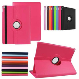 Wholesale Pink Ipad Screen - For iPad Pro Tablet Case 360 Degree Rotating Quality PU Leather Cover Stand Protective Shell Flip Cases For iPad Pro 12.9'' inch