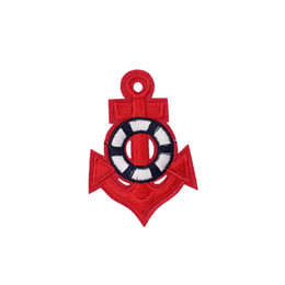 Patches d'ancrage en Ligne-10PCS Red Anchor Patches pour Vêtements Sacs Fer sur Transfert Applique Patch pour Jacket DIY Coudre sur Broderie Badge