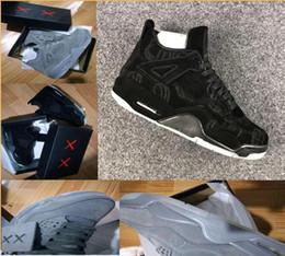 Wholesale Halloween Glow - WithBox) KAWS x Air Retro 4 4s XX Kaws Cool Grey White Glow Men Basketball Shoes retro 4s White Blue black sports sneakers